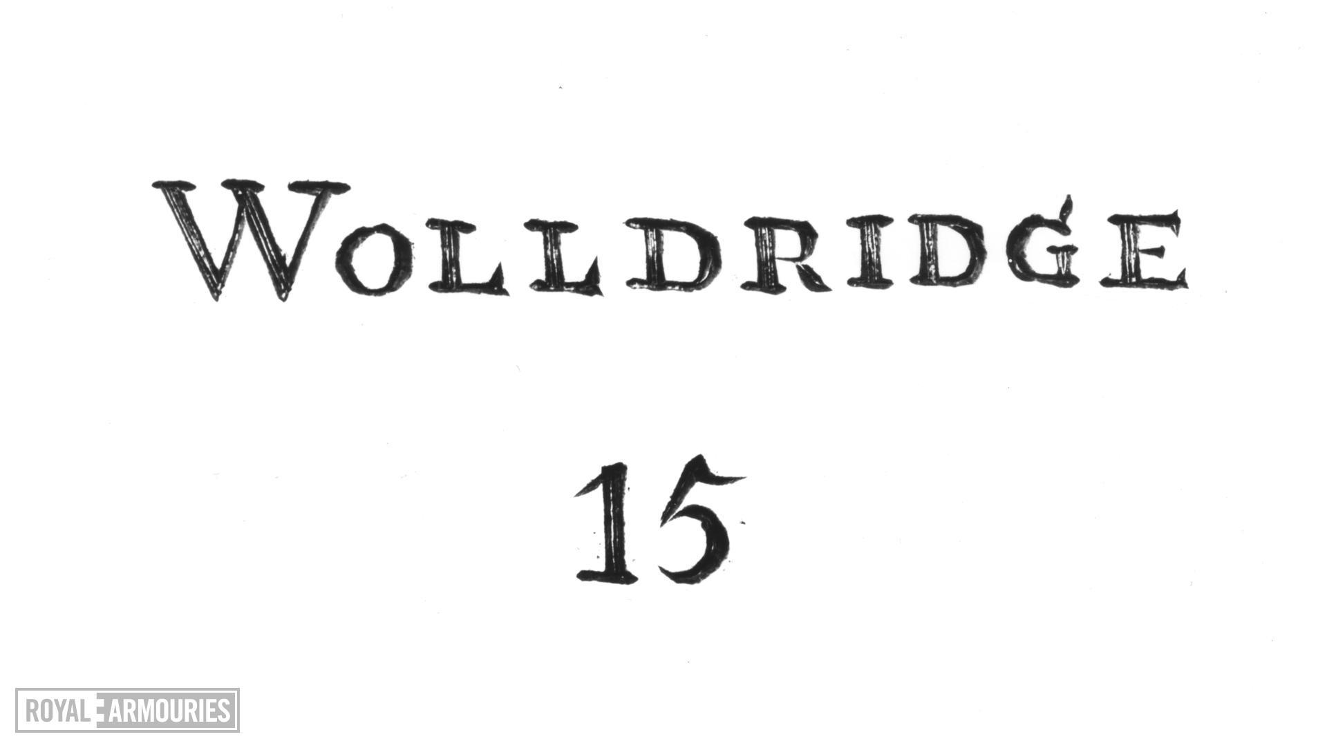 Flintlock muzzle-loading military musketoon - Pattern 1704 Sea Service By Wolldridge