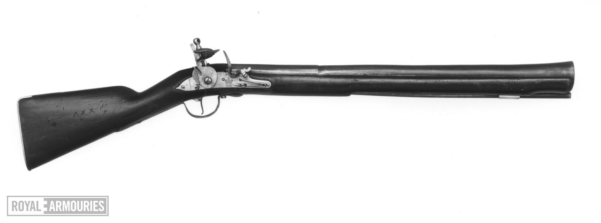 Flintlock muzzle-loading military musketoon - Pattern 1704 Sea Service
