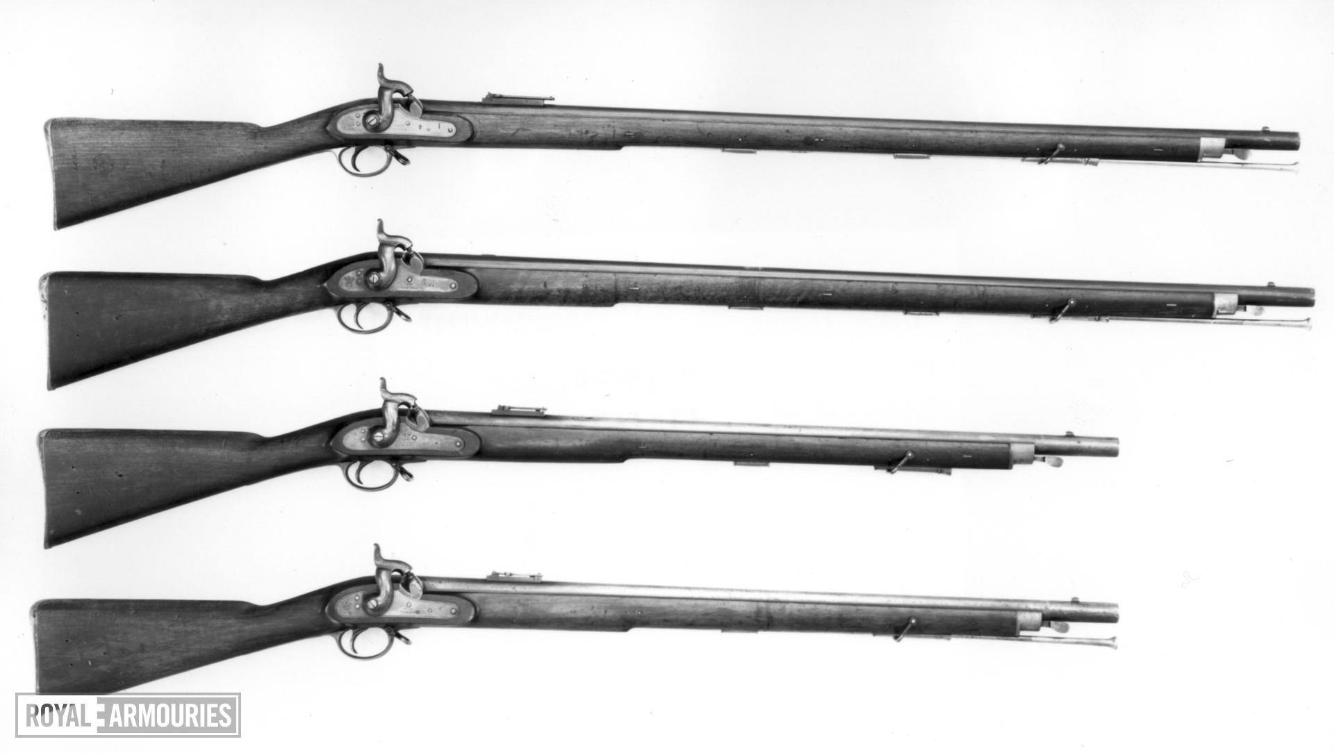 Percussion muzzle-loading military rifle-musket - Pattern 1842 Sea Service