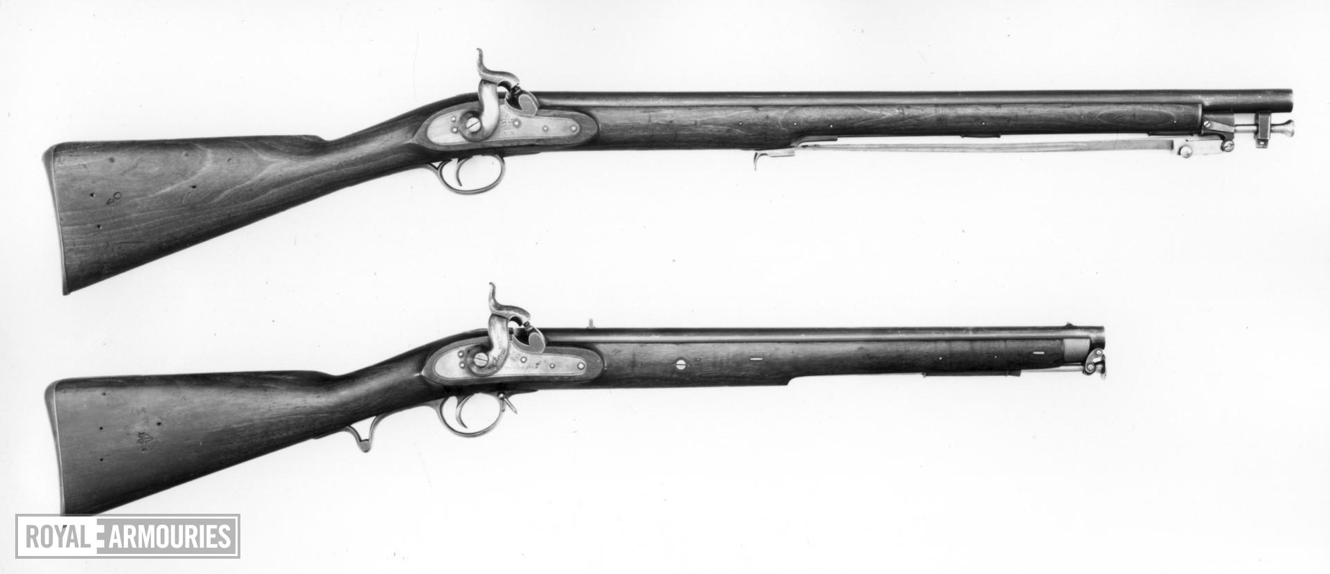 Percussion muzzle-loading carbine - English Carbine. For constabulary.