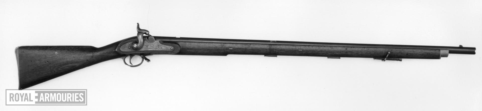 Percussion muzzle-loading military rifle-musket