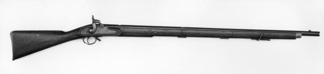 Thumbnail image of Percussion muzzle-loading military rifle-musket Experimental extra service pattern Probably for the experiments preceding the adoption of the Minie in 1851