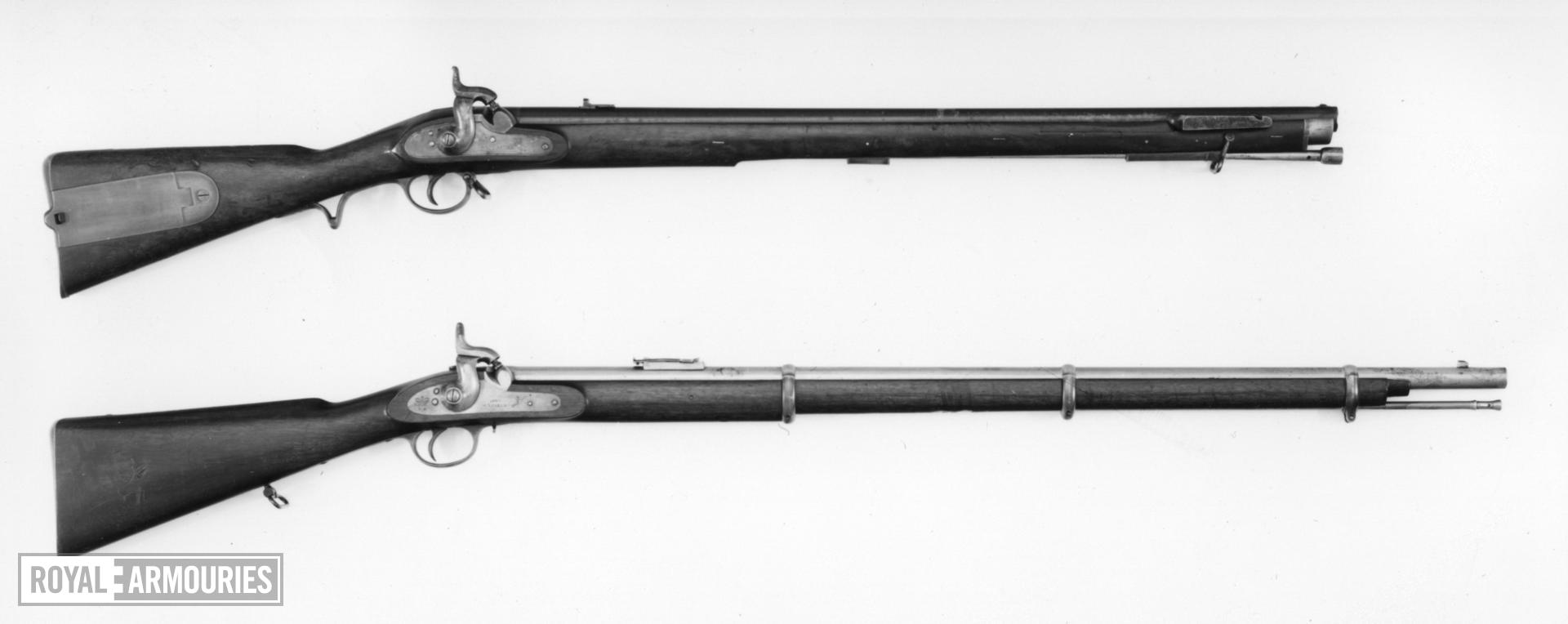 Percussion muzzle-loading military rifle - By Charles Lancaster