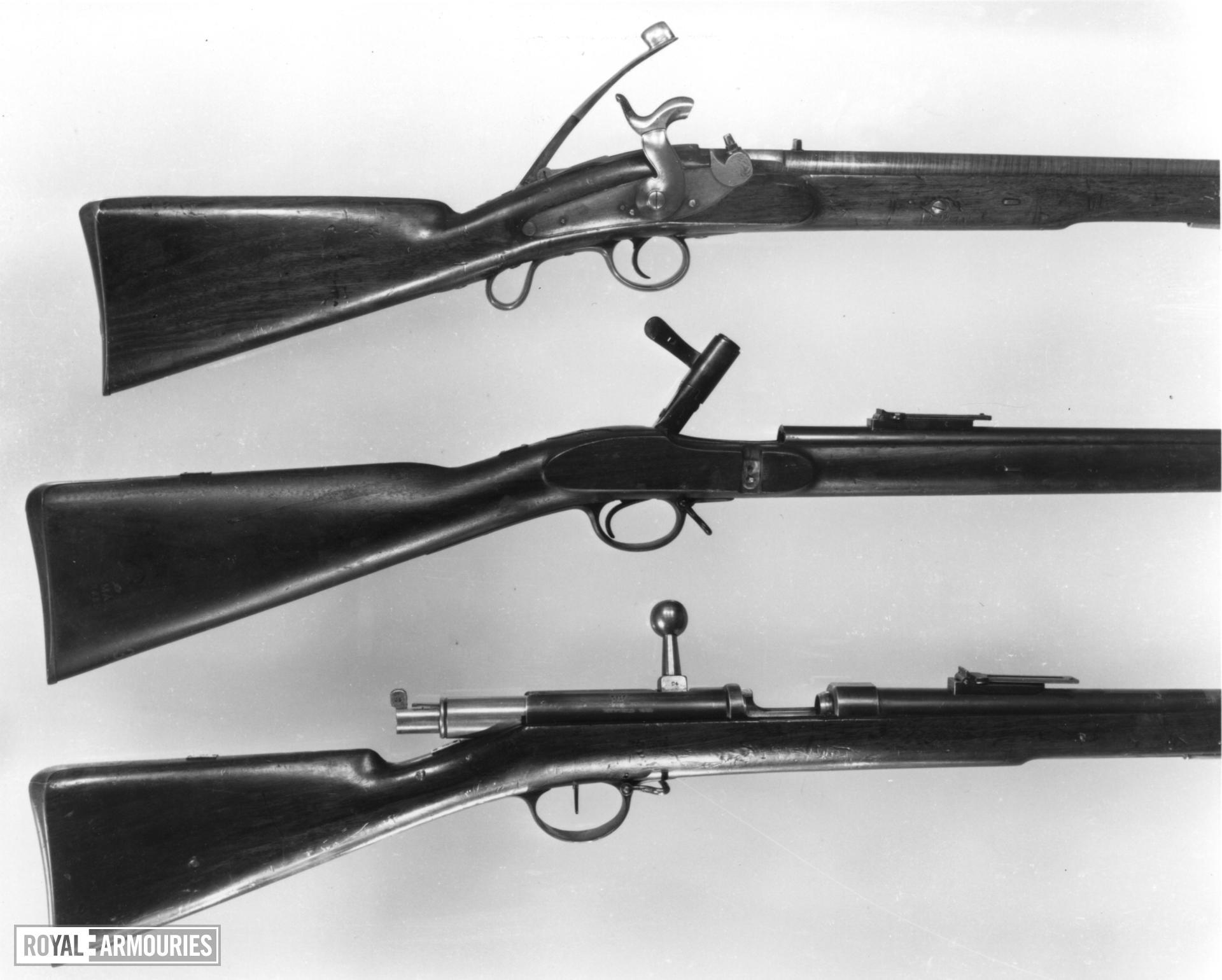 Percussion breech-loading military carbine - Jenks Patent