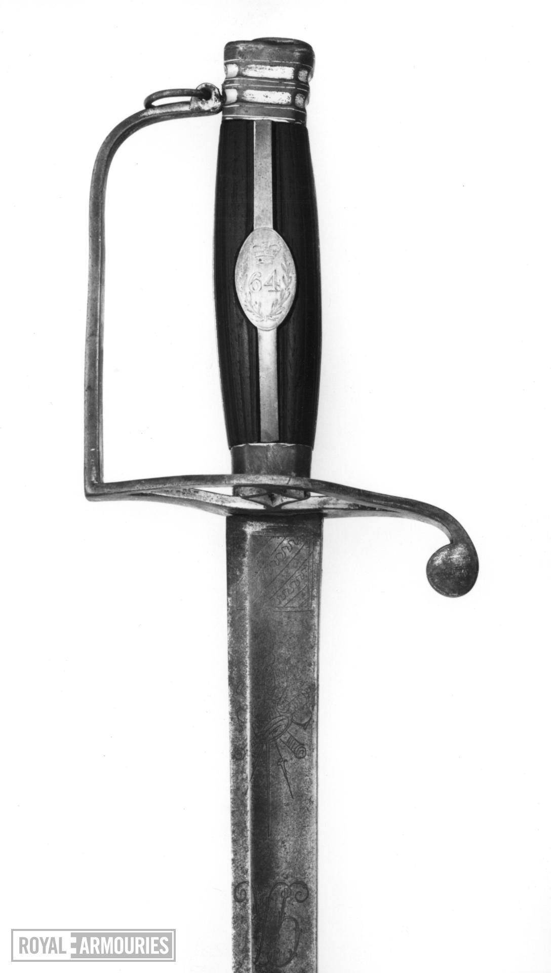 Sword Infantary Officer's sword, 64th (2nd Staffordshire) Regiment,