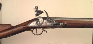 Thumbnail image of Flintlock muzzle-loading military musket - Short Land Pattern
