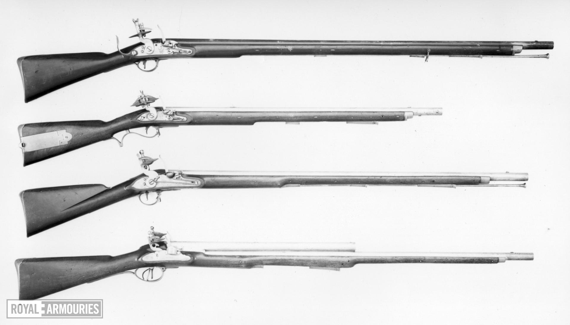 Flintlock muzzle-loading military musket - New Land Pattern