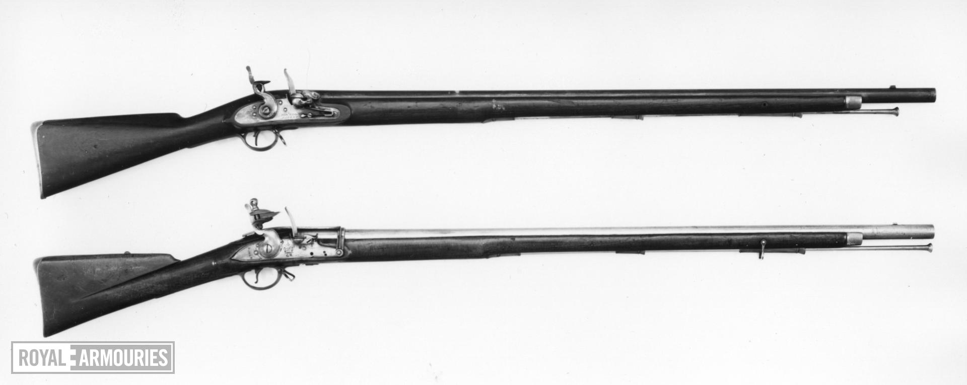 Flintlock muzzle-loading military musket - By Joseph Egg