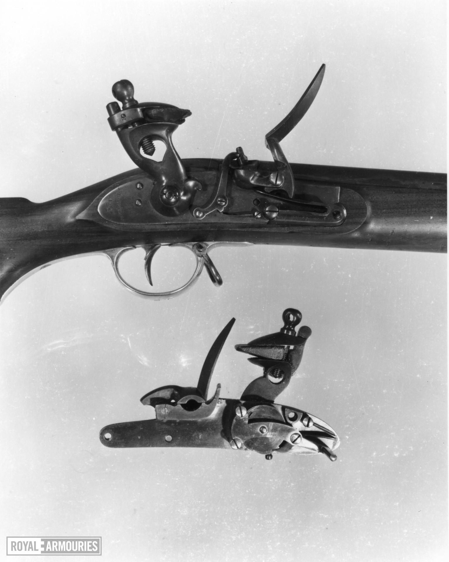 Flintlock muzzle-loading military musket - Baker Pattern