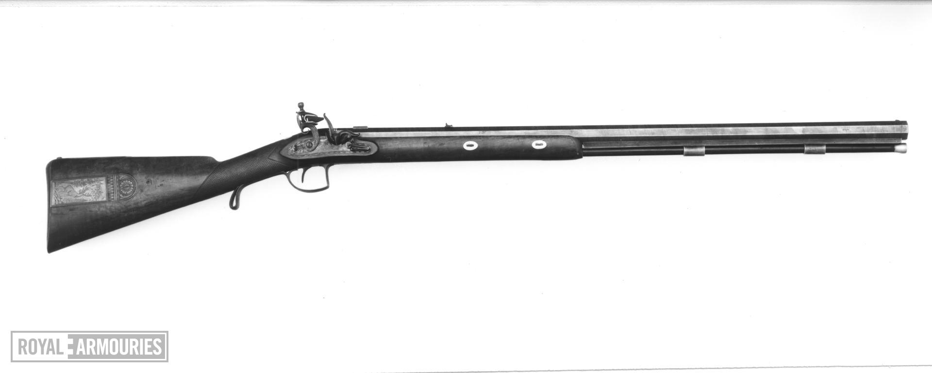 Flintlock muzzle-loading presentation rifle - By Tatham