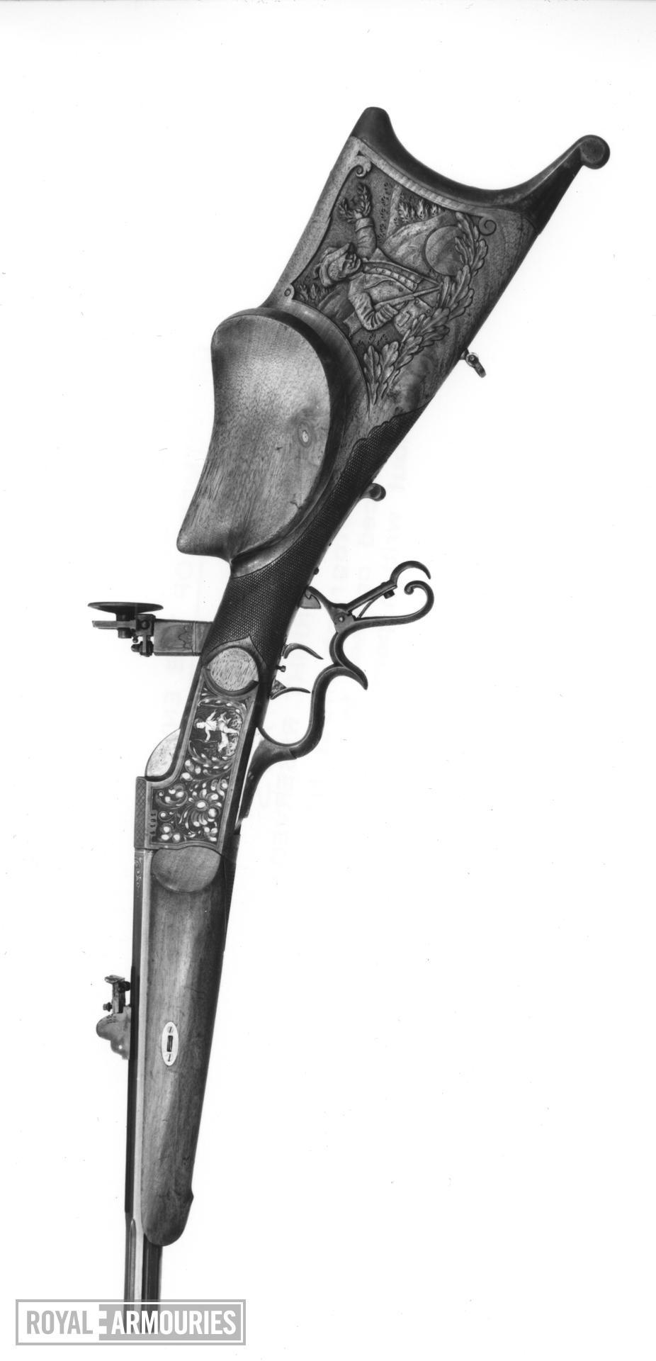 Centrefire breech-loading target rifle - System Buchel Schutzen target rifle