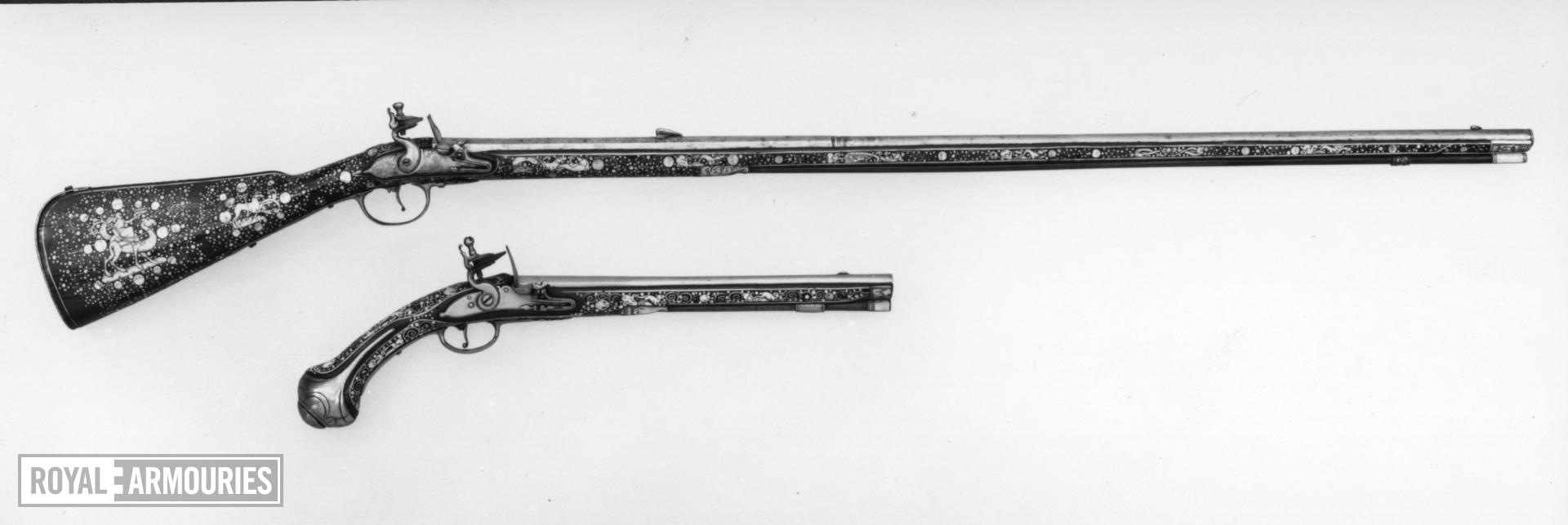 Flintlock muzzle-loading rifle - N/A For sporting use.