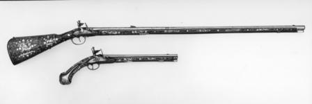 Thumbnail image of Flintlock muzzle-loading rifle - N/A For sporting use.