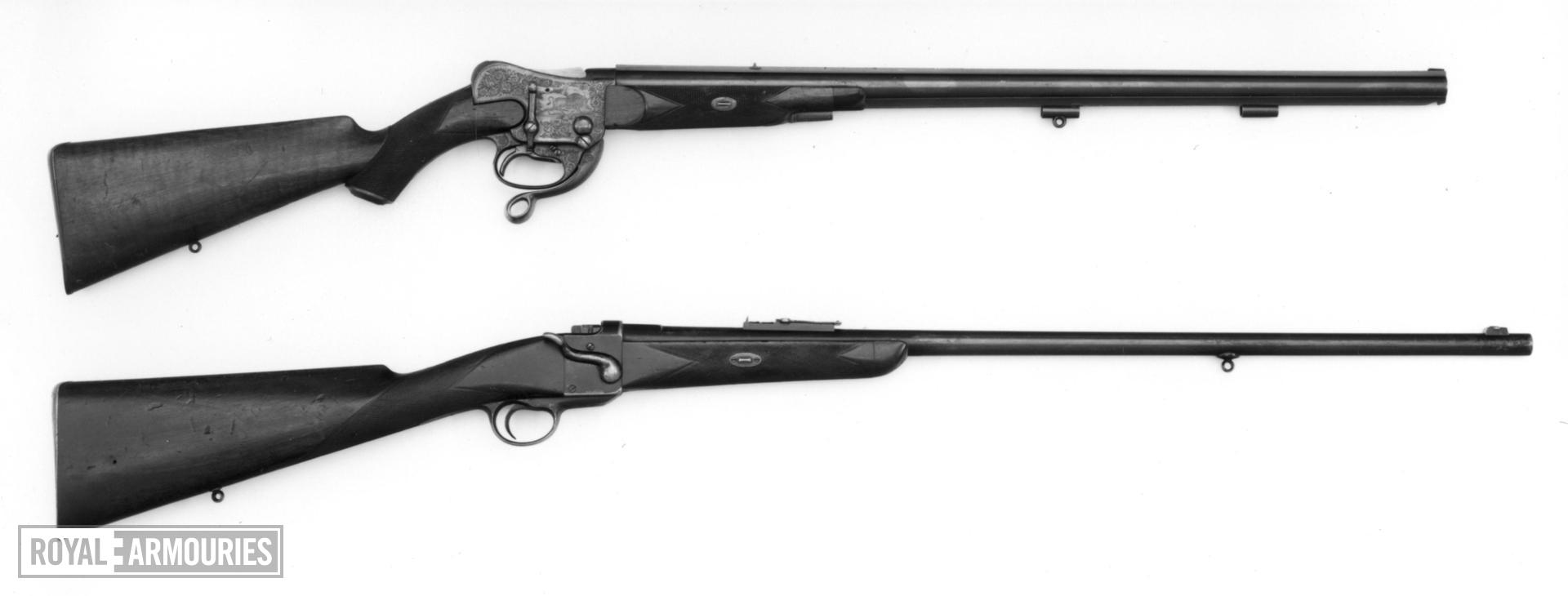 Centrefire underlever breech-loading rifle - Westley Richards Express Retailed by James Woodward and Sons, London