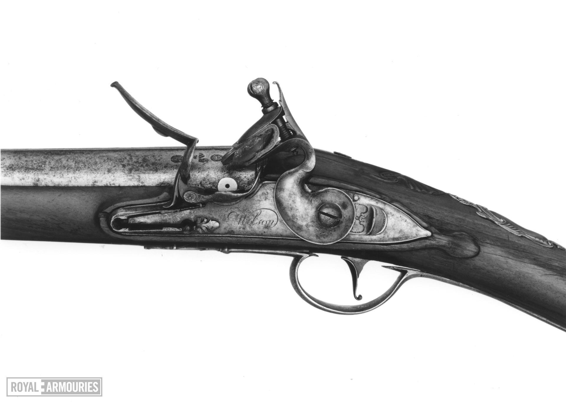 Flintlock sporting gun Left hand lock