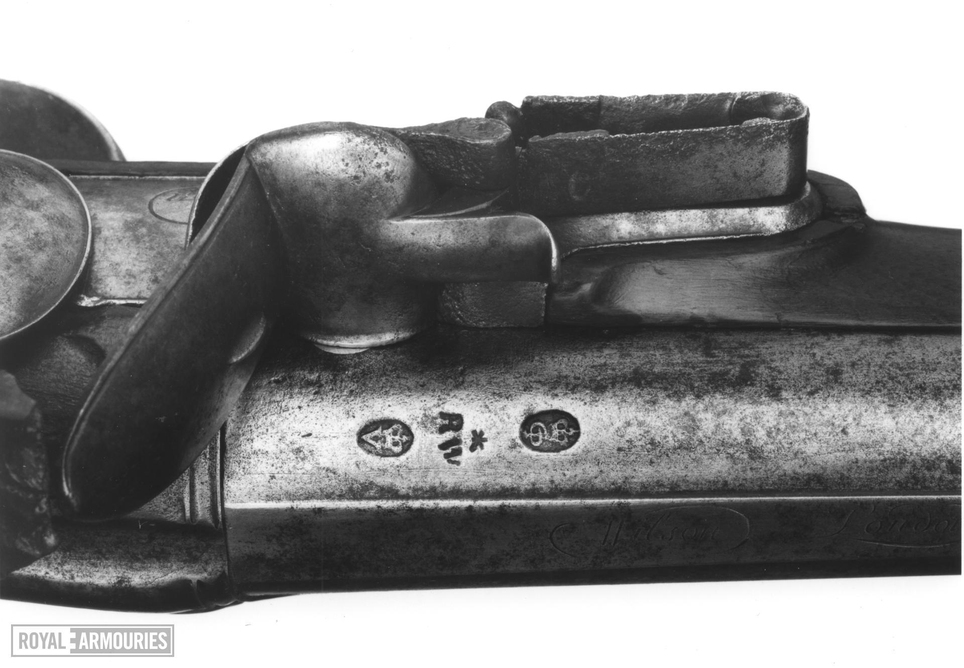 Flintlock muzzle-loading sporting gun - By Wilson