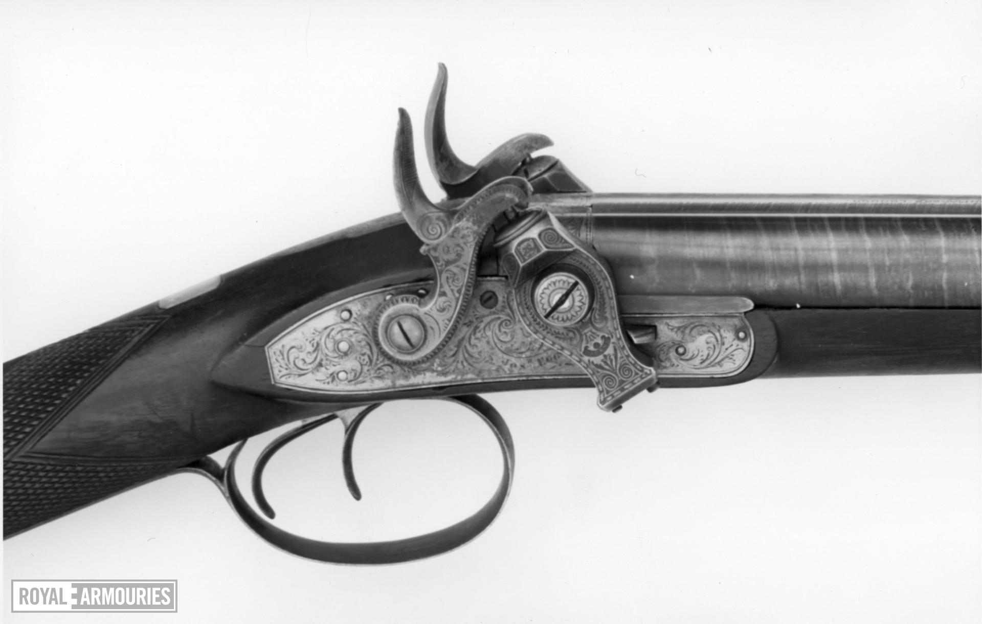 Percussion double-barrelled shotgun - By Joseph Egg