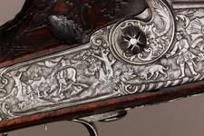 Thumbnail image of Wheellock muzzle-loading rifle - By Johann Cristoph Waas