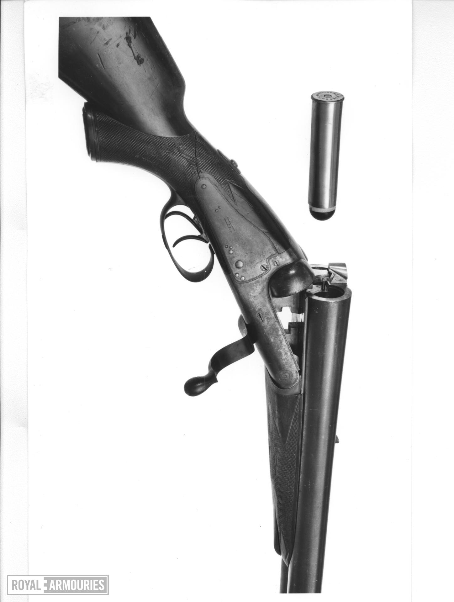 Centrefire double-barrelled rifle - By Holland & Holland Formerly belonging to Ewart Grogan.