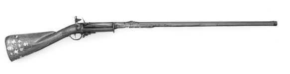 Thumbnail image of Flintlock Gun Repeating, superimposed?