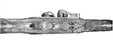 Thumbnail image of Flintlock holster pistol By Nicolas One of a pair; see XII.1629 Made for Philip V, King of Spain 1700-1726