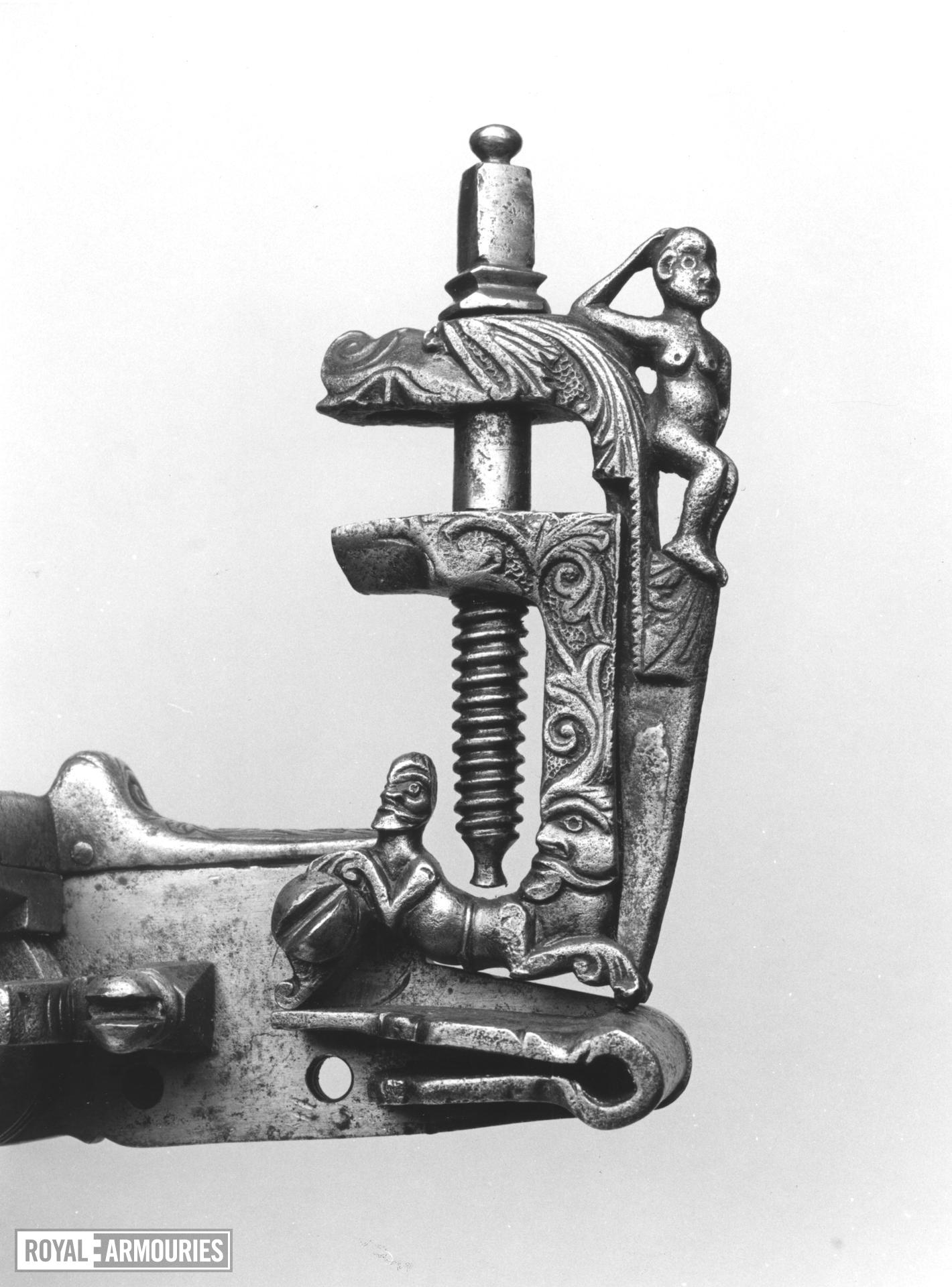 Detached wheellock lock From a large sporting gun