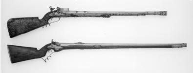 Thumbnail image of Flintlock muzzle-loading target rifle By Cuinolet.