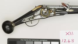 Thumbnail image of Wheellock holster pistol One of a pair of wheel lock holster pistols by Zacharias Herold