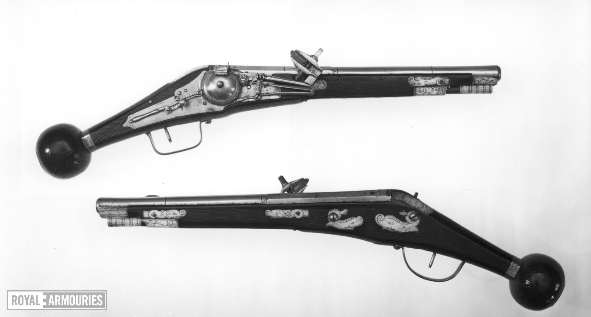 Wheellock holster pistol One of a pair of wheel lock holster pistols by Zacharias Herold