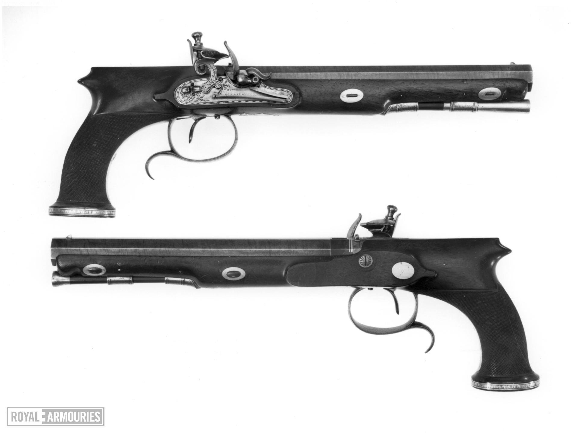 Flintlock duelling pistol By Edward Patrick One of a pair see XII.1728