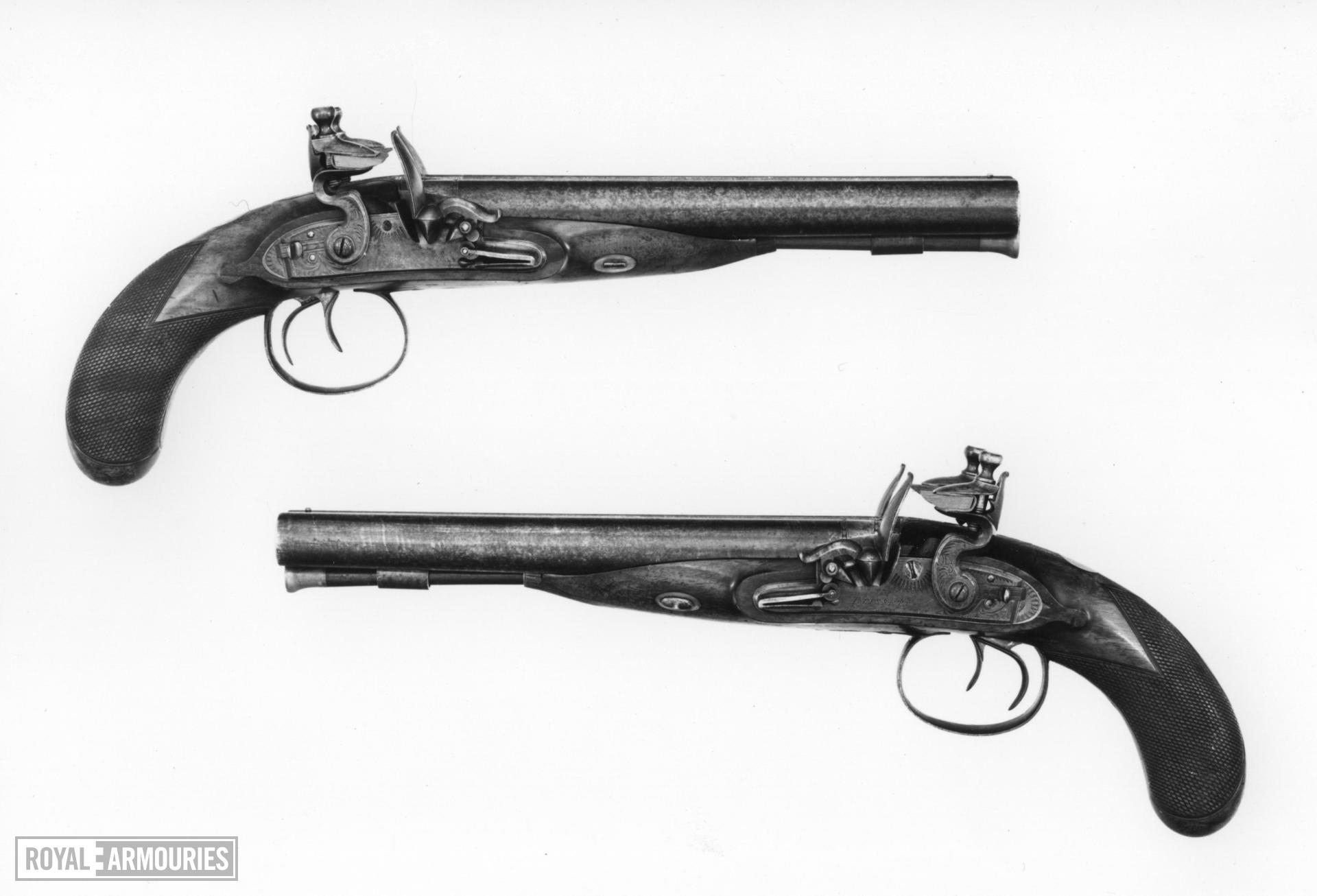 Flintlock pistol Howdah pistol by Blissett One of a pair; see XII.1352