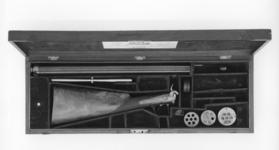 Thumbnail image of Percussion seven-barrelled volley gun - By Forsyth and Co Cased