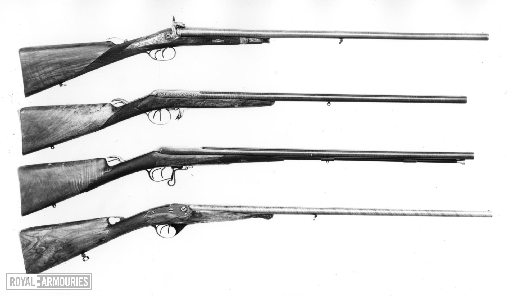 Pinfire breech-loading double-barrelled shotgun - E. Baudon System