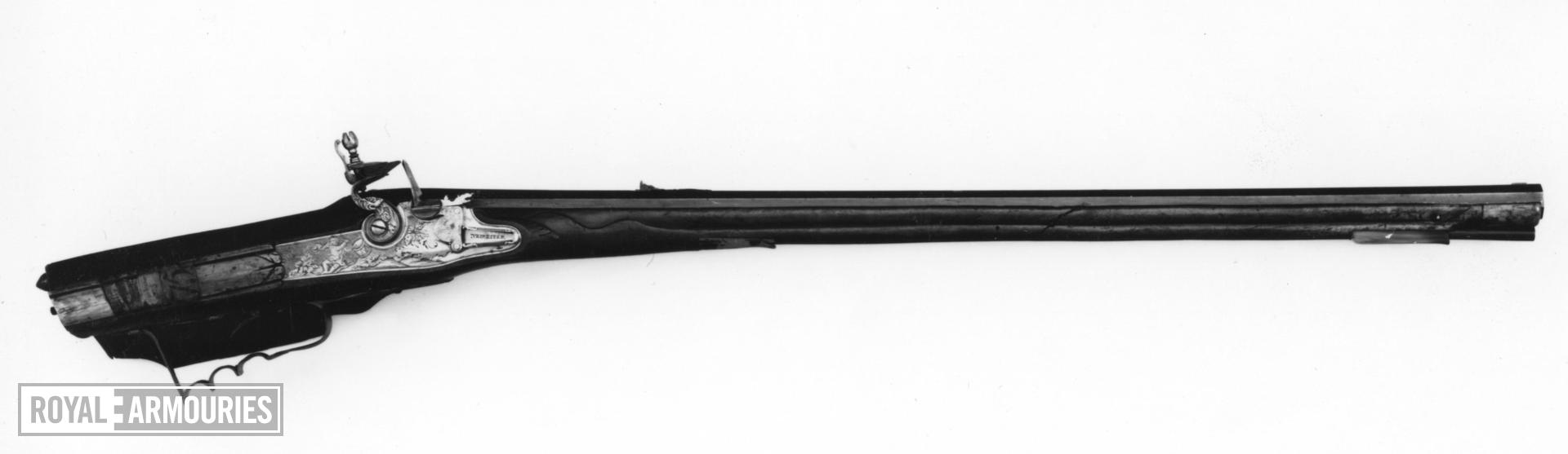 Flintlock muzzle-loading rifle
