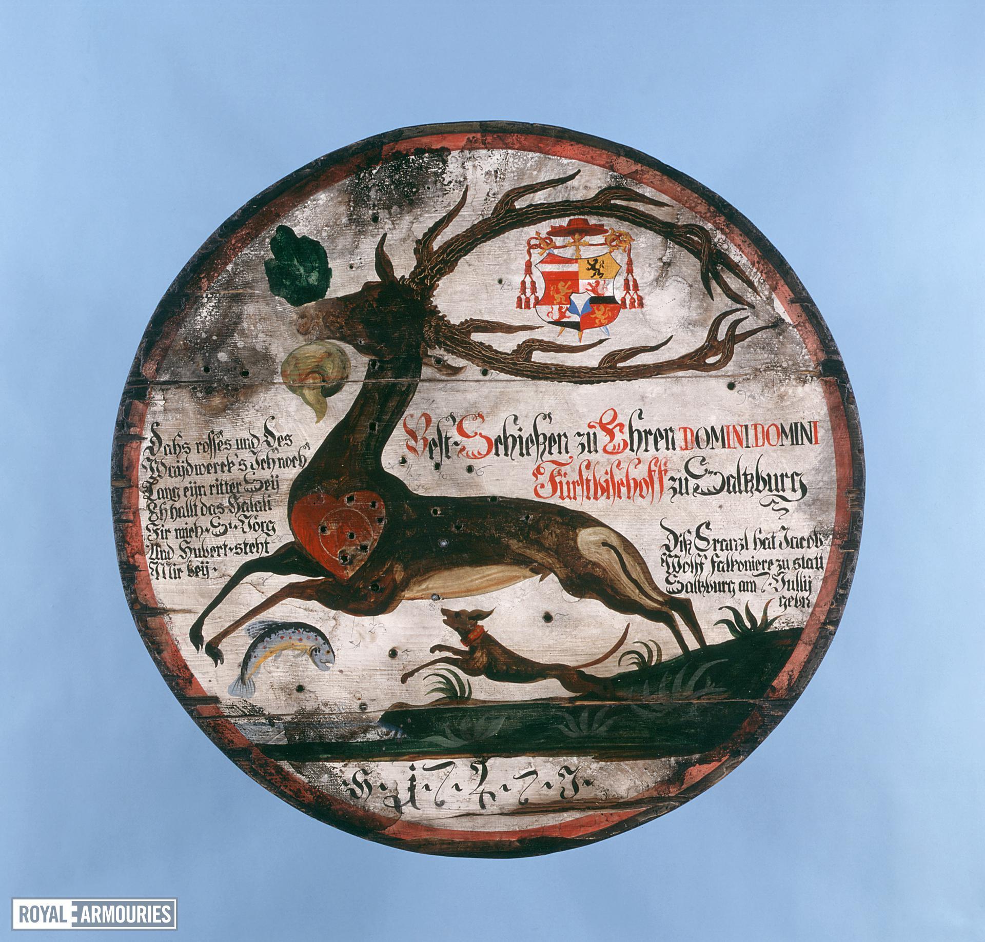 Artistic target Modern copy of an 18th century Schutzen target