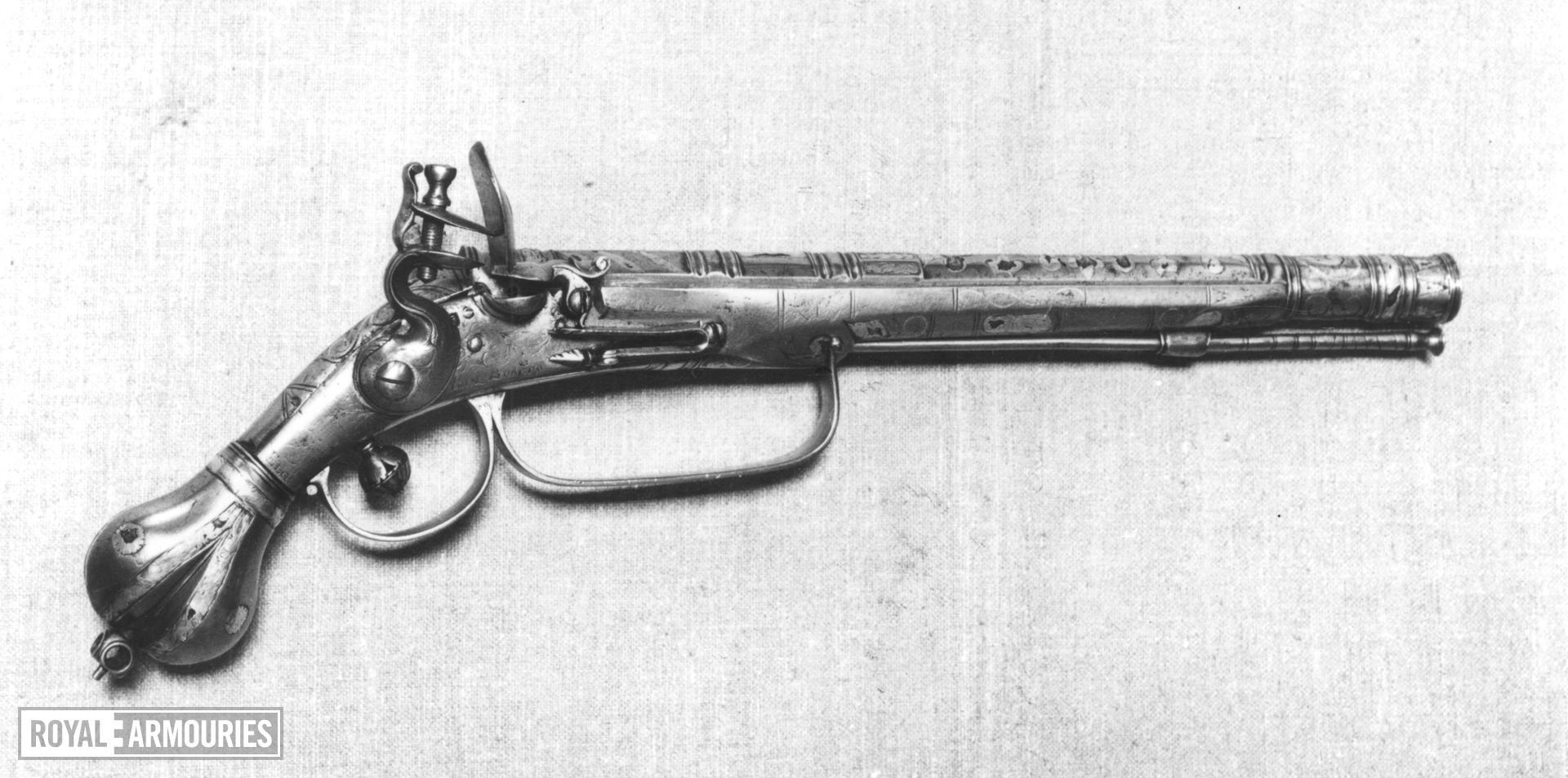 Flintlock pistol By John Burges