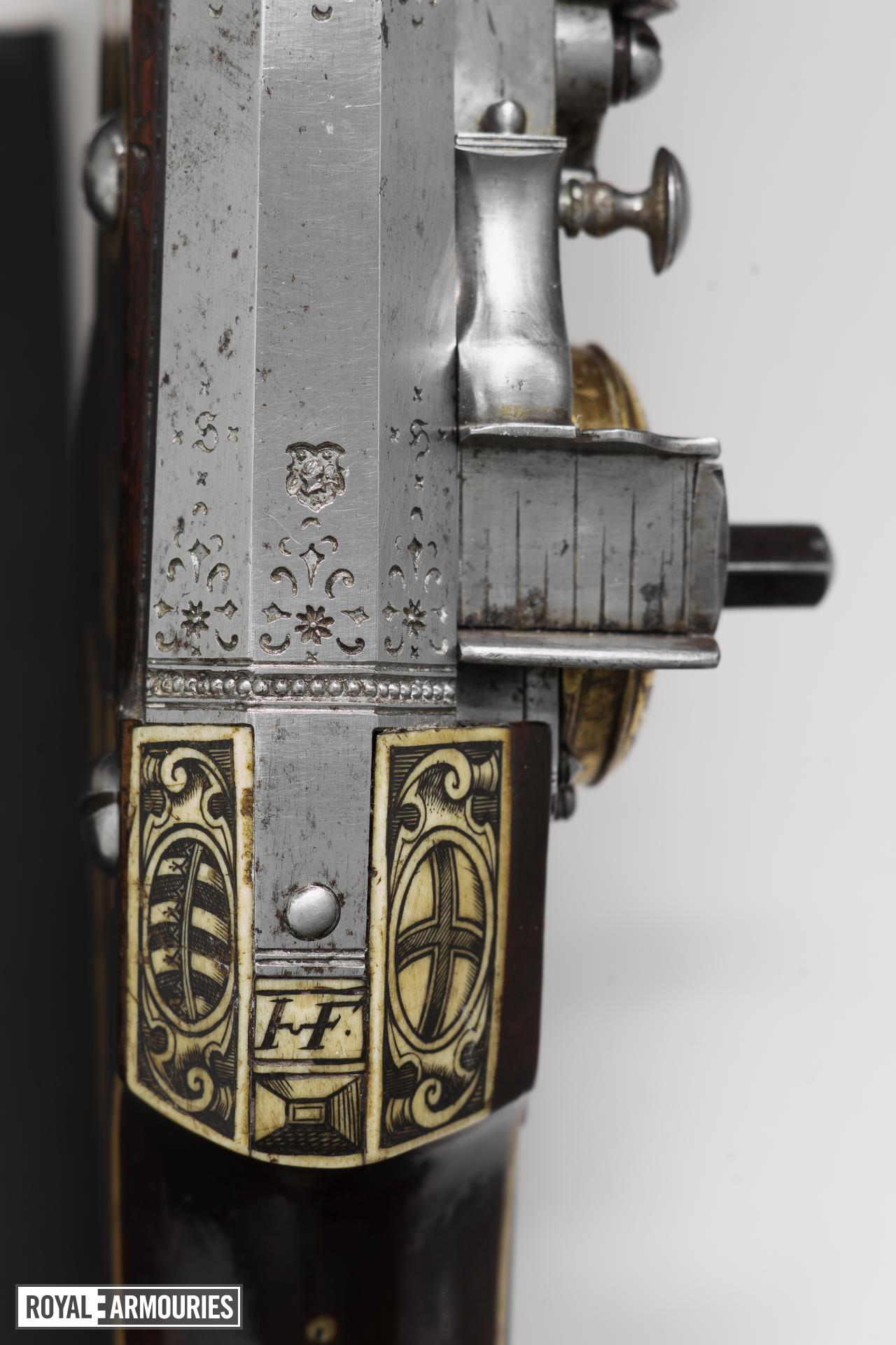 Wheellock Muzzle loader holster pistol - By Christoph Trechsler For the guard of the Elector Christian II. One of a pair, see XII.1254