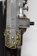 Thumbnail image of Wheellock Muzzle loader holster pistol - By Christoph Trechsler For the guard of the Elector Christian II. One of a pair, see XII.1254