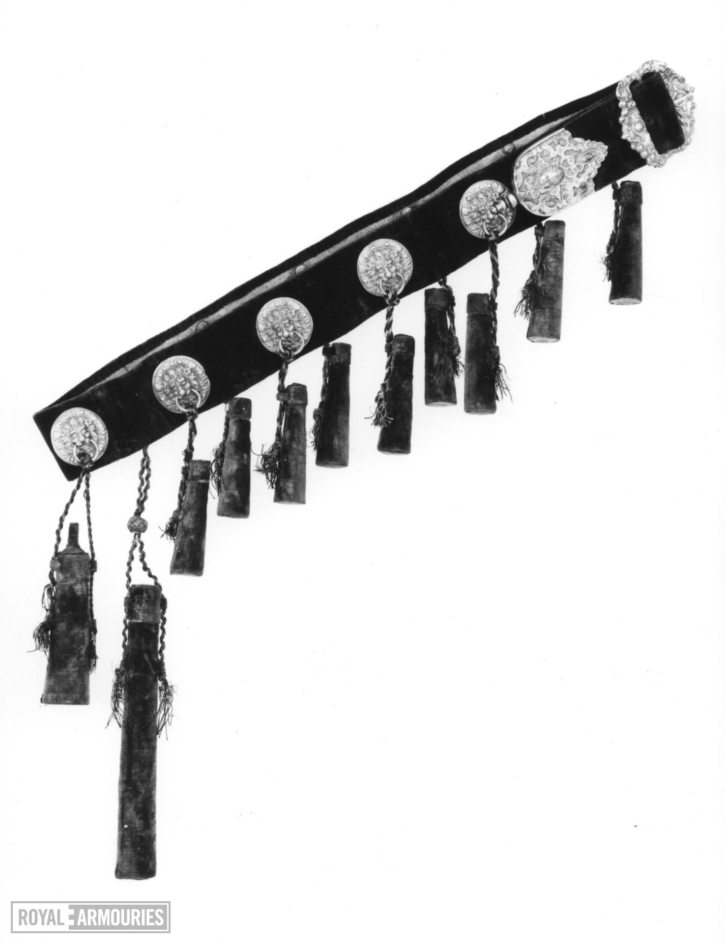 Bandoliers For the guard of the Elector of Saxony