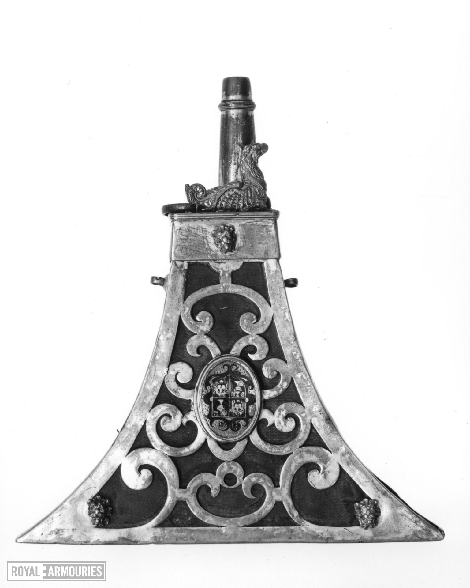 Powder flask - for the Goldsmith's Company of London