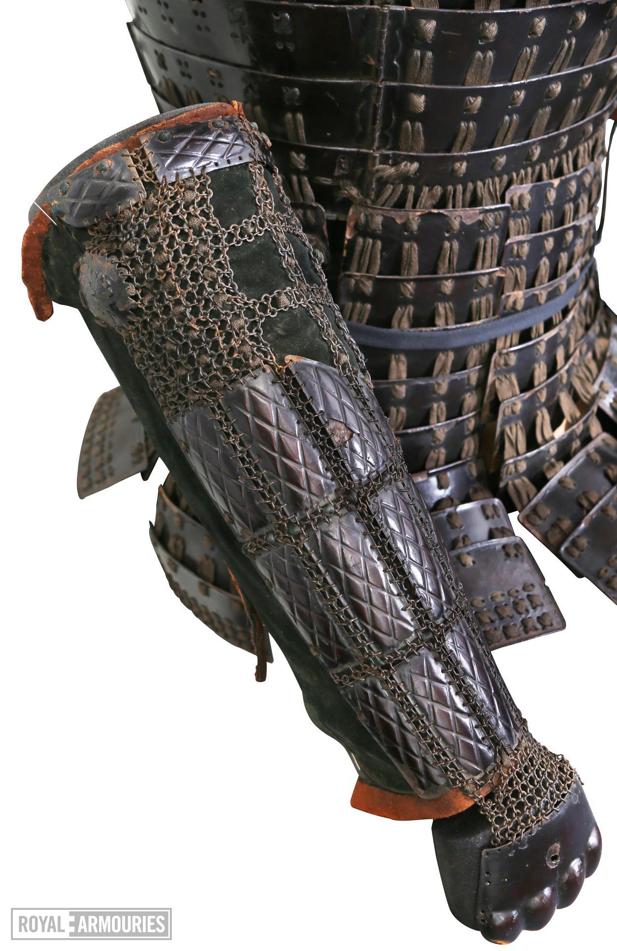 Armour (mogami haramaki gusoku) of a member of the Shimazu family. XXVIA.2