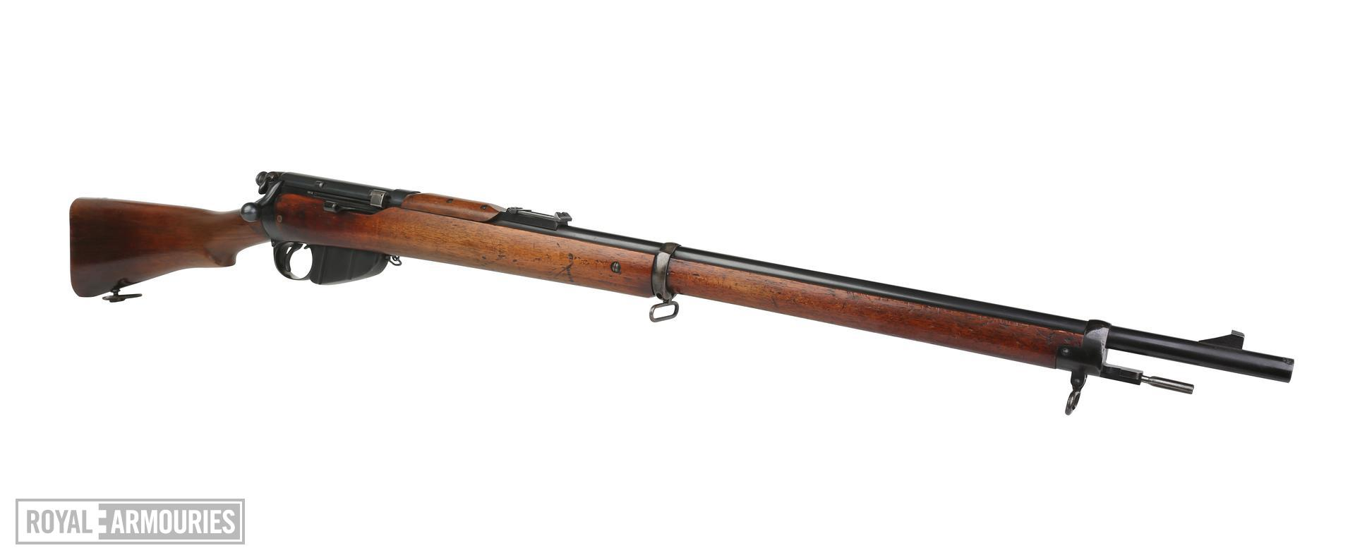 Centrefire bolt-action magazine military rifle. Lee Enfield Mk. I rifle, serial number 1. PR.5711