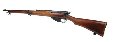Thumbnail image of Centrefire bolt-action magazine military rifle. Lee Enfield Mk. I rifle, serial number 1. PR.5711