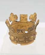 Thumbnail image of Gilt wooden crown with fixing bracket. XVIII.580