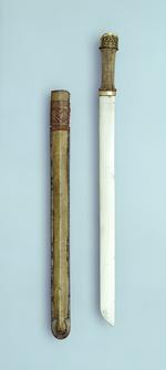 Thumbnail image of Sword and scabbard with gilded copper mounts