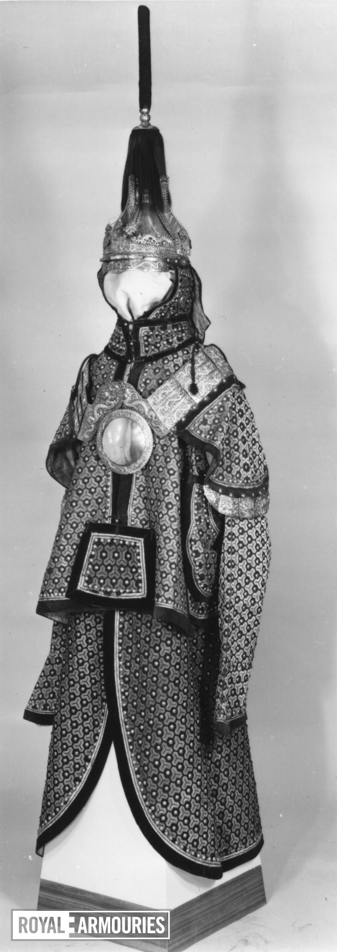 Uniform (ding jia) Made for an officer of the Imperial Guards.