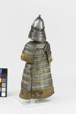 Thumbnail image of Model armour Model suit of lamellar armour including a coat and helmet, Tibet, 18th century