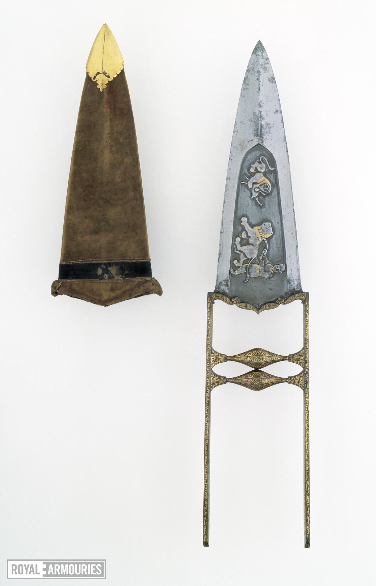 Dagger (katar) and scabbard Dagger (katar) and scabbard, India, early 19th century
