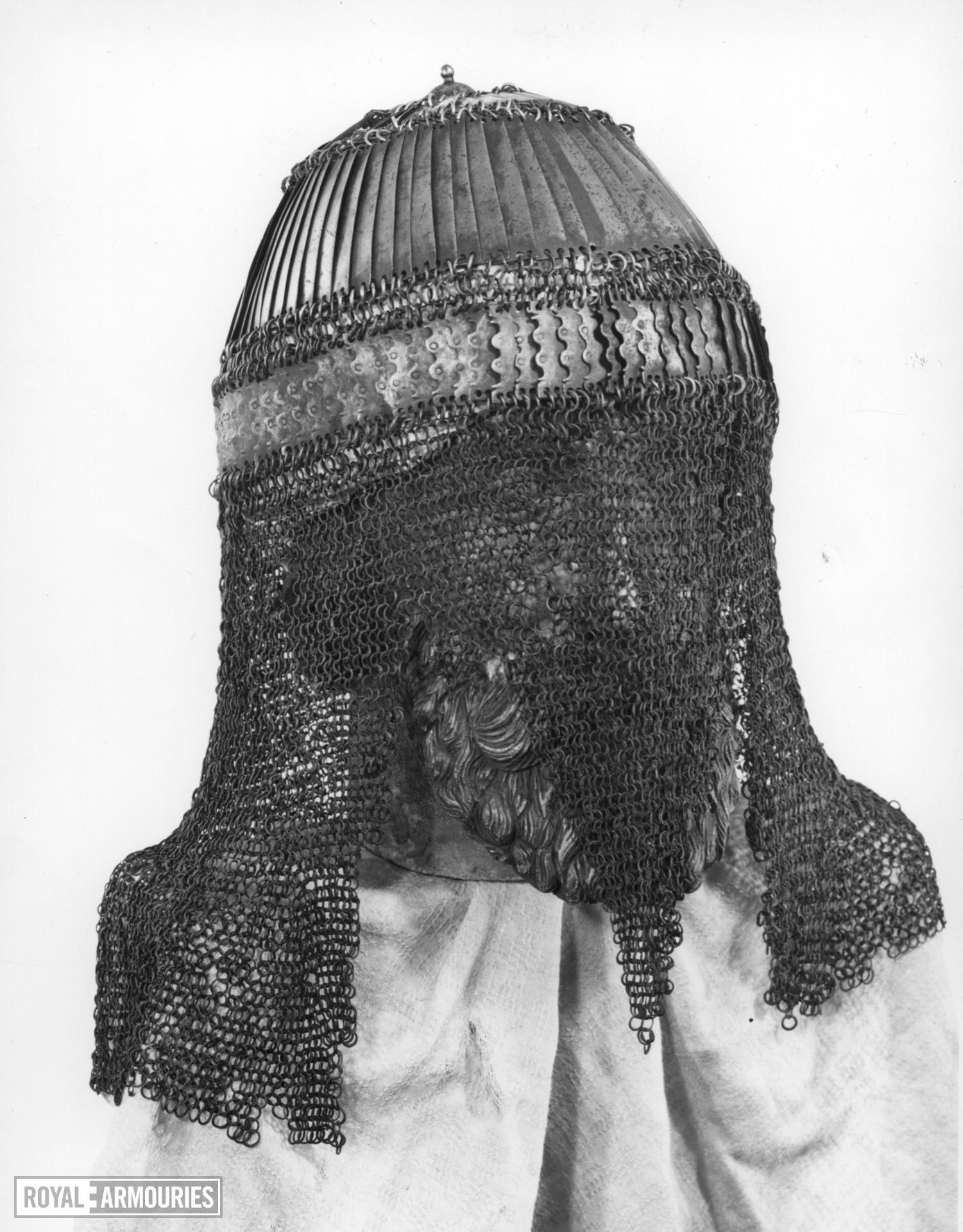 Mail and plate helmet (kolah zereh)