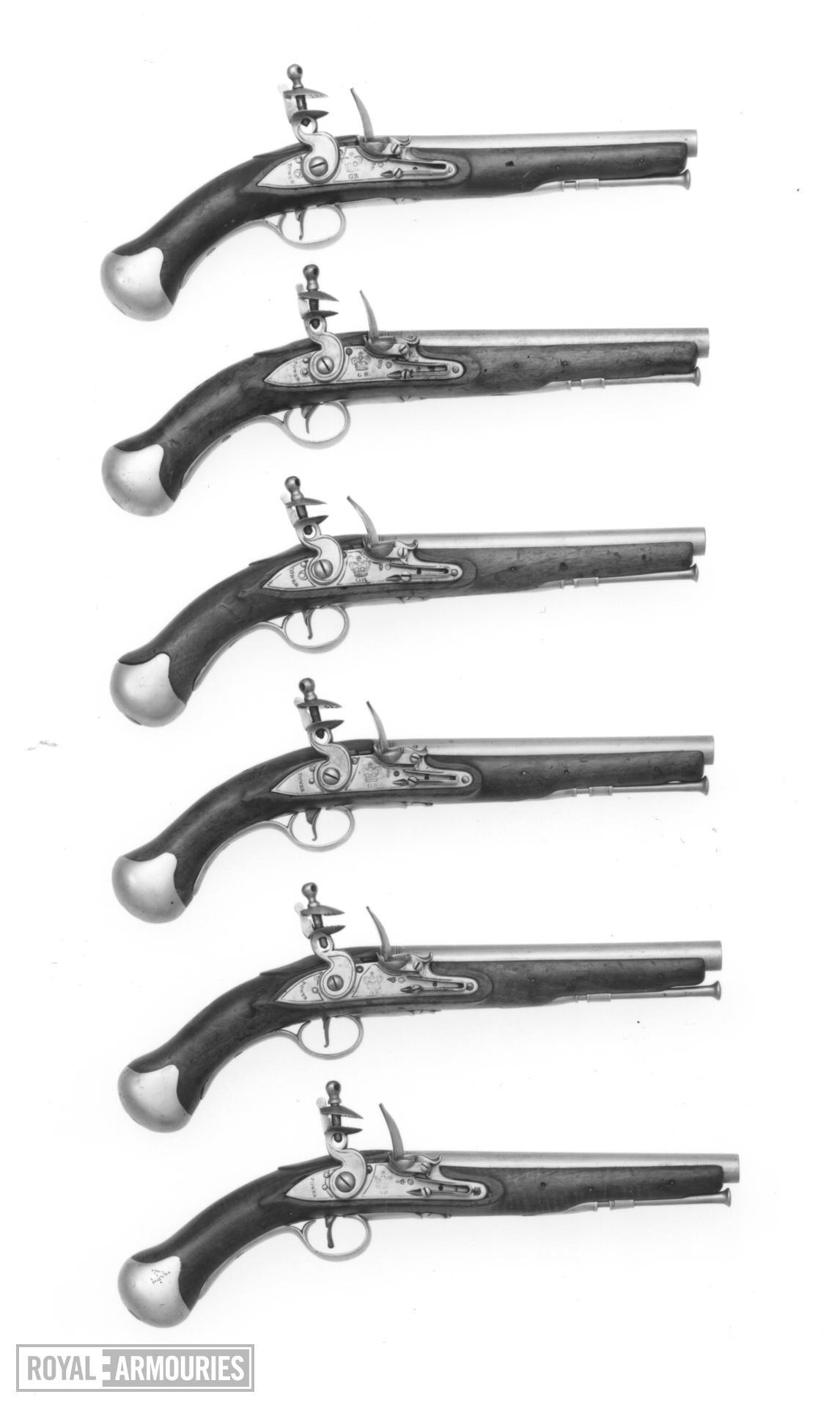 Flintlock military pistol - Sea Service Pattern